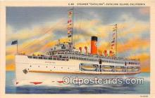 shi062191 - Steamer Catalina Catalina Island, California USA Ship Postcard Post Card