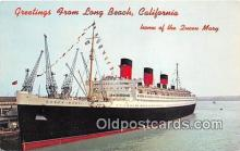 shi062194 - Queen Mary Long Beach, California USA Ship Postcard Post Card