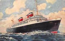 shi062198 - SS America United States Lines Ship Postcard Post Card