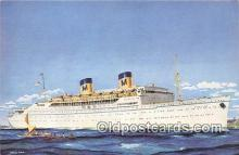 shi062200 - SS Lurline Matson Lines Ship Postcard Post Card