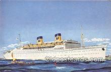 shi062204 - SS Lurline Matson Lines Ship Postcard Post Card