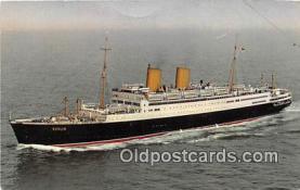 shi062206 - MS Berlin Norddeutscher Lloyd Bremen Ship Postcard Post Card