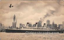 shi062210 - SS Majestic White Star Line Ship Postcard Post Card