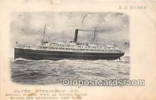shi062214 - Clyde Steamship Co, SS Huron New York USA Ship Postcard Post Card