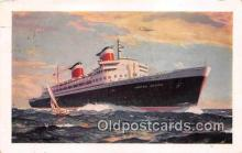 shi062217 - New SS United States New York USA Ship Postcard Post Card