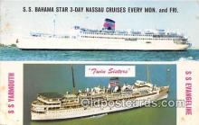 shi062222 - SS Bahama Star Twin Sisters, SS Yarmouth, SS Evageline Ship Postcard Post Card
