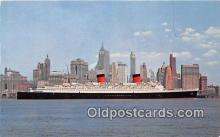 shi062230 - SS Queen Elizabeth Manhattan, New York City USA Ship Postcard Post Card