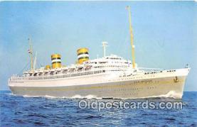shi062232 - SS Nieuw Amsterdam Holland America Line Ship Postcard Post Card