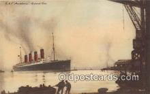 shi062237 - RMS Mauretania Cunard Line Ship Postcard Post Card