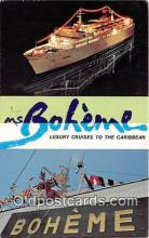 shi062239 - Boheme Luxury Cruises to the Caribbean Ship Postcard Post Card
