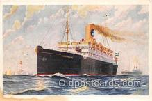 shi062253 - SS Drottningholm Swedish American Line Ship Postcard Post Card