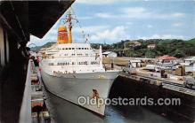 shi062267 - MV Sagafjord Canal De Panama Ship Postcard Post Card