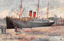shi062275 - SS Etrurla Cunard Line Ship Postcard Post Card