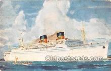 shi062276 - Matson Lines Luxury Liner Lurline  Ship Postcard Post Card