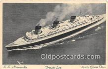 shi062277 - SS Normandie French Line Ship Postcard Post Card