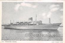 shi062278 - SS Theodor Herzl Zim Israel Navigation Co LTD Ship Postcard Post Card