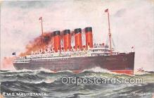 shi062292 - RMS Mauretania  Ship Postcard Post Card
