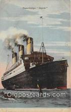 shi062294 - Transatlantique Majestic Ship Postcard Post Card