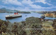 shi062297 - Ships from All Nations Panama Canal Ship Postcard Post Card