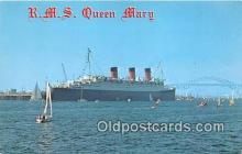 shi062302 - RMS Queen Mary Port of Long Beach, California Ship Postcard Post Card