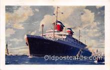 shi062314 - SS America Bermerhaven, Germany Ship Postcard Post Card
