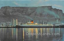 shi062315 - Rhapsody in Blue Ocean Terminal, Table Bay Docks, Cape Town, S Africa Ship Postcard Post Card