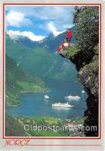 shi062336 - Norway Geiranger Ship Postcard Post Card