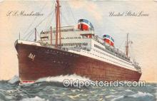 shi062338 - SS Manhattan United States Lines Ship Postcard Post Card
