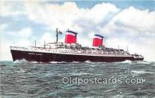 shi062339 - SS United States East Coast Ports Ship Postcard Post Card