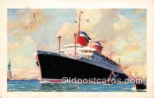 shi062346 - SS America France, Southampton Ship Postcard Post Card