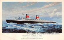 shi062349 - Steamship United States Flagship of United States Lines Ship Postcard Post Card