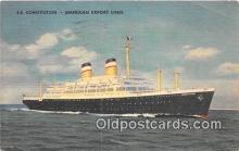 shi062360 - SS Constitution American Export Lines Ship Postcard Post Card