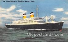 shi062364 - SS Constitution American Export Lines Ship Postcard Post Card
