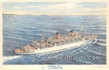 shi062369 - MS Italia Home Lines Ship Postcard Post Card