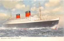 shi062375 - Cunard RMS Queen Elizabeth  Ship Postcard Post Card