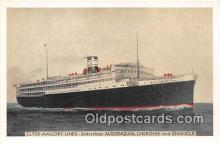 shi062376 - Clyde Mallory Lines Algonquin, Cherokee & Seminole Ship Postcard Post Card