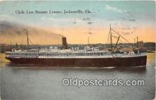 shi062377 - Clyde Line Steamer Lenape Jacksonville, Florida Ship Postcard Post Card