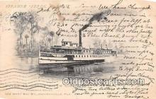 shi062379 - Steamer Fredk DeBary Clyde St Johns River Line Ship Postcard Post Card