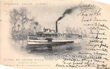 shi062380 - Steamer Fredk DeBary Clyde St Johns River Line Ship Postcard Post Card