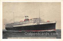 shi062382 - Clyde Mallory Lines Algonquin, Cherokee & Seminole Ship Postcard Post Card