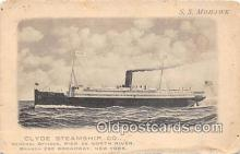 shi062383 - SS Mohawk Clyde Steamship Co Ship Postcard Post Card