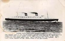 shi062384 - Cunard White Star Liner Queen Elizabeth  Ship Postcard Post Card