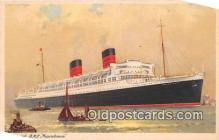 shi062386 - Cunard RMS Mauretania  Ship Postcard Post Card