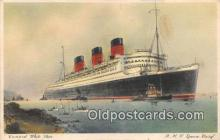 shi062390 - RMS Queen Mary Cunard White Star Ship Postcard Post Card