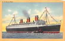 shi062393 - SS Queen Mary Cunard White Star Line Ship Postcard Post Card