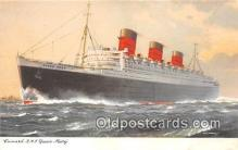 shi062394 - Cunard RUMS Queen Mary  Ship Postcard Post Card