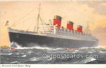 shi062395 - Cunard RMS Queen Mary  Ship Postcard Post Card