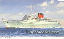 shi062400 - Cunard RMS Caronia  Ship Postcard Post Card