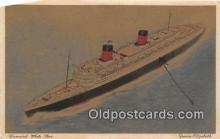 shi062403 - Queen Elizabeth Cunard White Star Ship Postcard Post Card