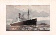 shi062408 - Cunard RMS Saxoina & Ivernia  Ship Postcard Post Card